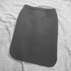 Marie Saint Pierre gray scuba pencil skirt